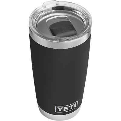 Yeti Rambler 20 Oz. Black Stainless Steel Insulated Tumbler with MagSlider Lid