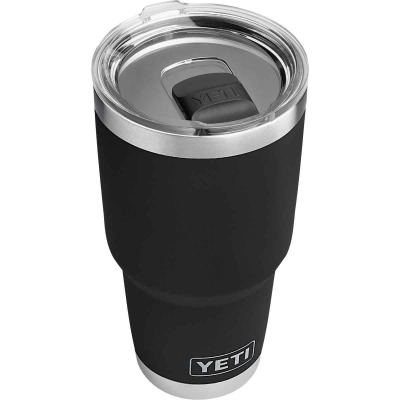 Yeti Rambler 30 Oz. Black Stainless Steel Insulated Tumbler with MagSlider Lid