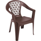 Adams Penza Earth Brown Resin Stackable Chair Image 1