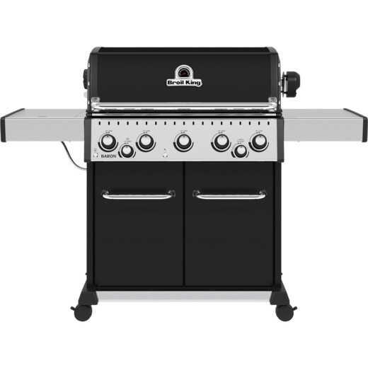 Broil King Baron 590 Pro 5-Burner Black 45,000 BTU LP Gas Grill