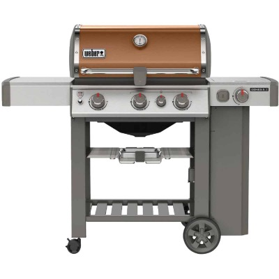Weber Genesis II SE-330 3-Burner Copper 39,000 BTU LP Gas Grill with 12,000 BTU Side -Burner