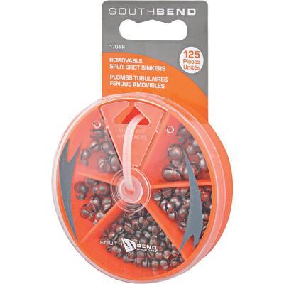 SouthBend 125-Piece Removable Split Shot Sinker Kit Assortment