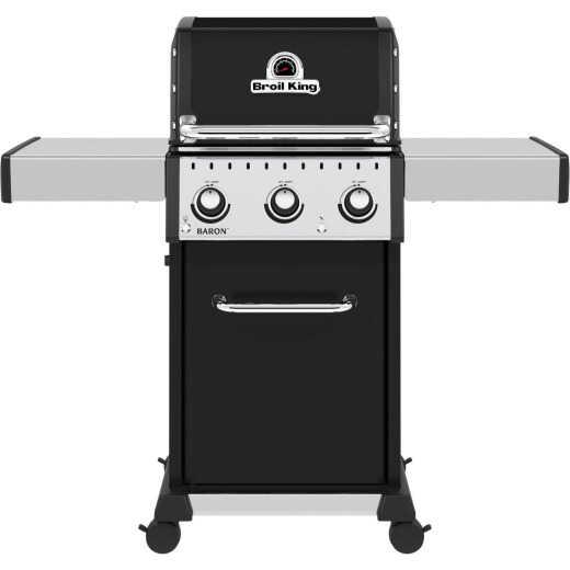 Broil King Baron 320 Pro 3-Burner Black 32,000 BTU LP Gas Grill