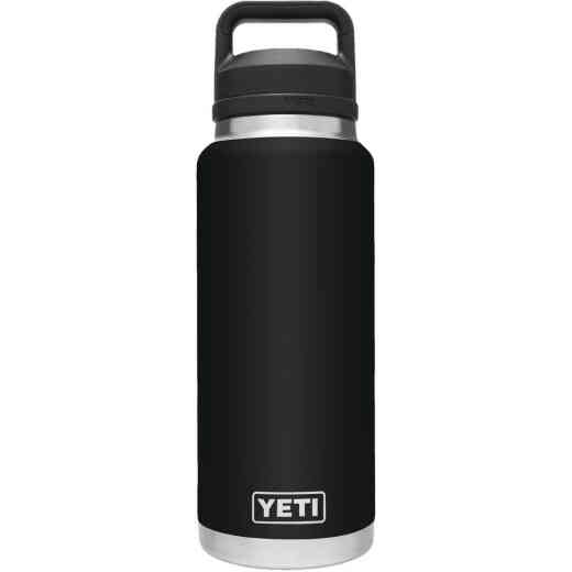 Yeti Rambler 36 Oz. Black Stainless Steel Insulated Vacuum Bottle with Chug Cap
