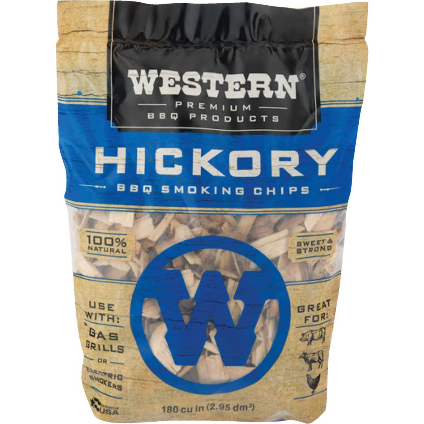 Western 180 Cu. In. Hickory Wood Smoking Chips Image 1