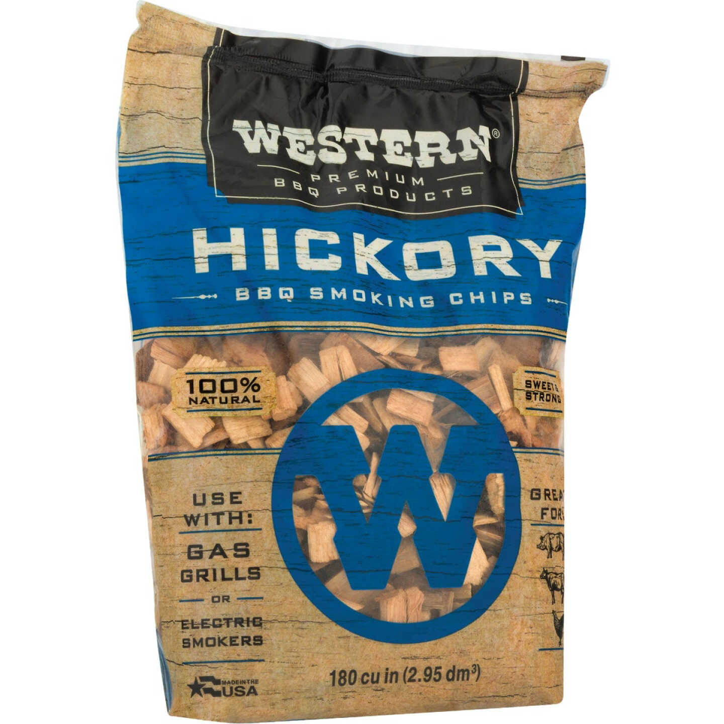 Western 180 Cu. In. Hickory Wood Smoking Chips Image 3