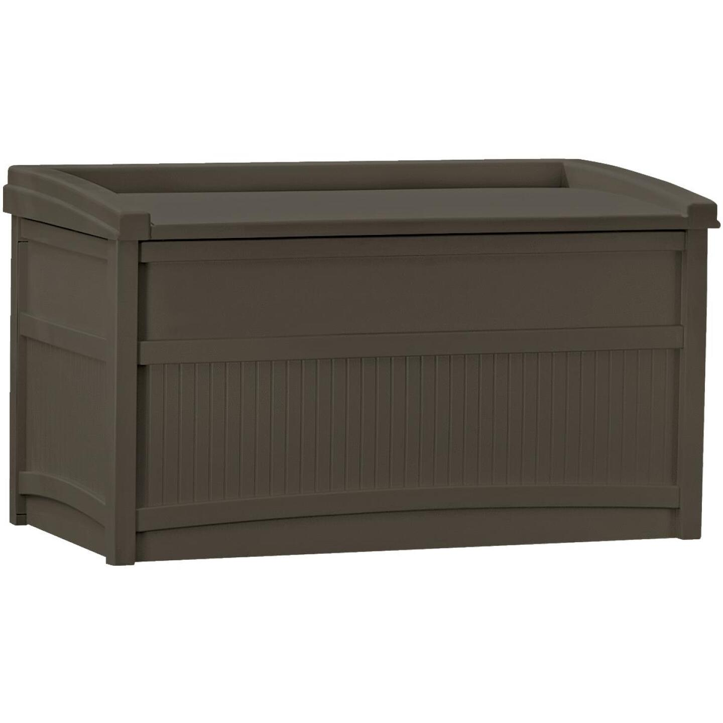 Suncast 50 Gal. Resin Java Deck Box with Seat Image 1